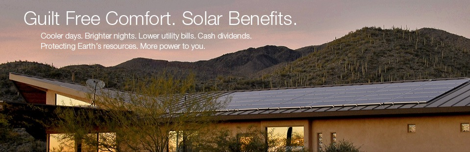 Guilt free comfort. Solar benefits.