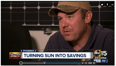 Corey Garrison - ABC 15 video on solar panels
