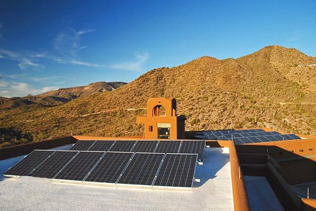 solar electric photovoltaic installation