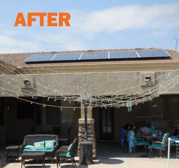 After - correct solar panel install by SouthFace Solar