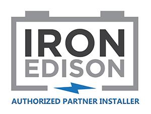 Iron Edison - Logo for Authorized Partner Installers