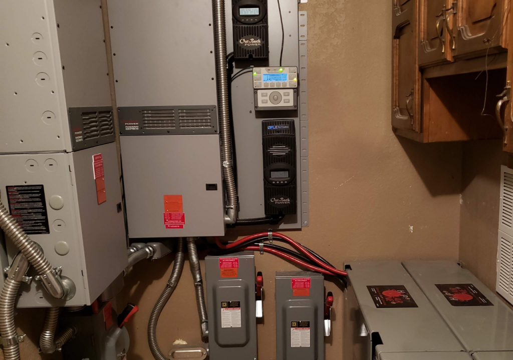 Outback battery installation